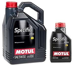 Aceite Motor Lubricante - Motul Specific 229.52, 5W-30: Amazon.es: Coche y moto