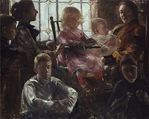 Oil Painting 'Lovis Corinth Familie Rumpf', 10 x 13 inch / 25 x 32 cm , on High Definition HD canvas prints is for Gifts And Bath Room, Hallway And Powder Room Decoration, decor