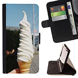 - Ice Cream Summer - - Style PU Leather Case Wallet Flip Stand Flap Closure Cover FOR Apple Iphone 5C - Devil Case -