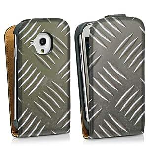 Diseño para Samsung Galaxy S3 Mini I8190 DesignTasche Downflip black - Riffelblech