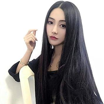 Amazon Com Korean Women Girls Female Long Hair Wig Invisible No