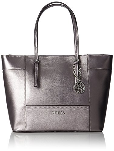 GUESS Delaney Medium Classic Tote Pewter