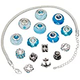 DARICE 1999-5284 Mix and Mingle Starter Jewelery Making Kit with Bracelet and Beads Nautical