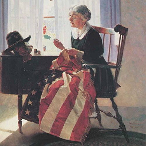 """Norman Rockwell Famous Artwork Cleaning Cloth """"Mending The F"""
