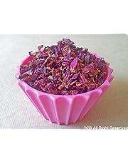 Flores secas variadas en gramos: lavanda, pétalos de rosa, granos de jaspeado, caléndula (pétalos de rosa, 18 g)