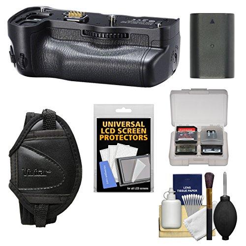 (Pentax D-BG6 Battery Grip for K-1 & K-1 Mark II Digital SLR Camera with Battery + Strap + Cleaning Kit)