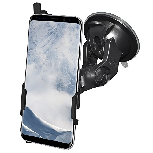 AMZER Slim Suction Cup Vehicle Car Mount Holder for Windshield, Dash, Console Car Mount for Samsung Galaxy S8 - Suction Mount