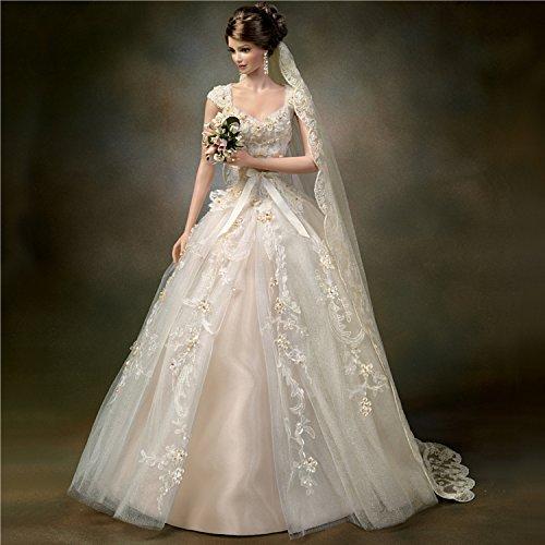 Cindy McClure Heirloom Rose Gold Engagement Ring Inspired Porcelain Bride Doll (Porcelain Wedding Rings)