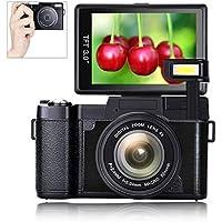 Digital Camera Vlogging Camera Full HD1080p 24.0MP 3.0...