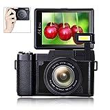 Digital Camera Vlogging Camera Full HD1080p 24.0MP 3.0 Inch Flip Screen Camera for YouTube