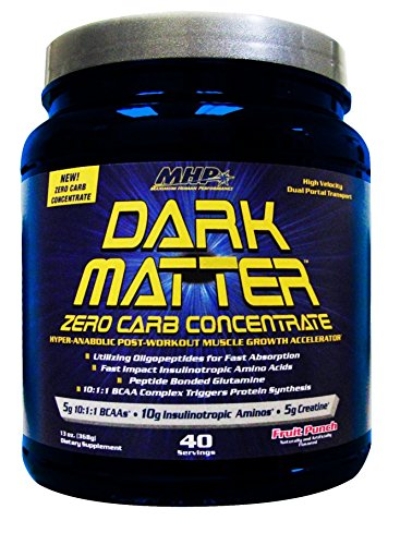 MHP Dark Matter, Zero Carb Concentrate, Post-Workout Muscle Growth Accelerator, Fruit Punch, 13 Ounce (Muscle Accelerator)