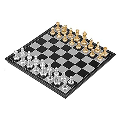 """Travel Magnetic Chess Set with Foldable Board, Lightweighted, 12.6""""x12.6""""x0.78"""""""