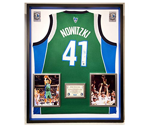 Premium Framed Dirk Nowitzki Autographed/Signed Dallas Mavericks Adidas Jersey - Beckett COA
