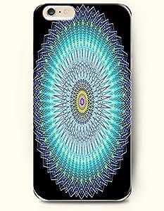SevenArc New Apple iphone 6 (4.7inch) Hard Back Case - MANDALA CIRCLE - Black Blue Mysterious Mandala Circle