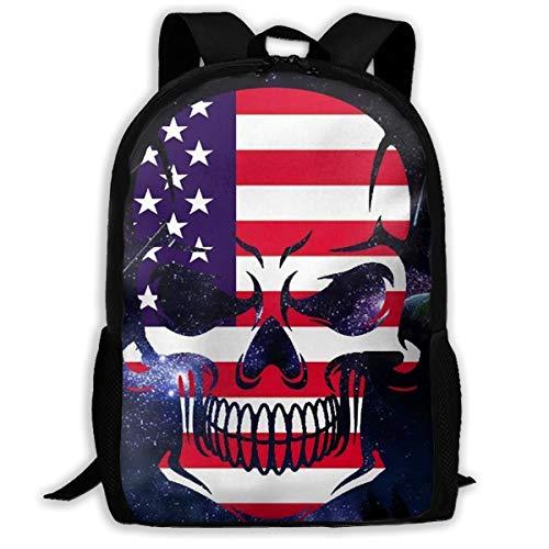 Laptop Backpack American Skeletons Are In Space Zipper College Bookbag Daypack Travel Rucksack Gym Bag For Man Women (Laurex Backpack Laptop)