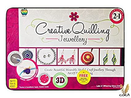 Buy CIERN Paper Quilling Jewellery Making Kits for Kids and Adults