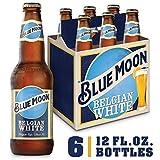 Blue Moon Belgian White Wheat Beer, Craft Beer, Beer 6 Pack, 12 FL OZ Bottles, 5.4% ABV