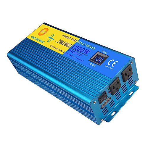 IpowerBingo Car Boat 1200W/2400W(Peak) Pure Sine Wave Solar Power Inverter DC- AC 12V-110V LCD DISPLAY Best quality by IpowerBingo (Image #1)'