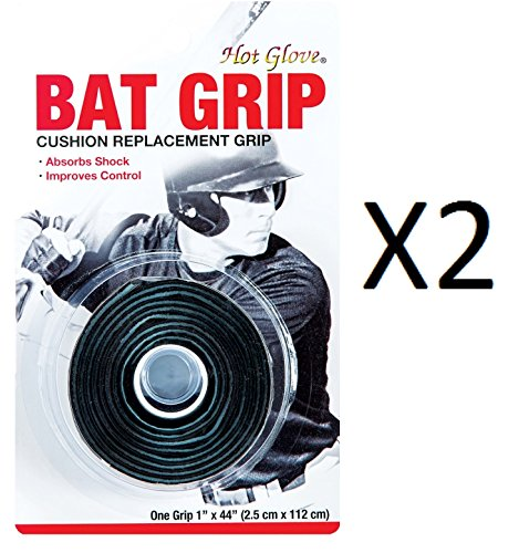 Unique Pro Sport Baseball-Softball Replacement Bat Grip Tape-Black (2-Pack) Bat Griptape