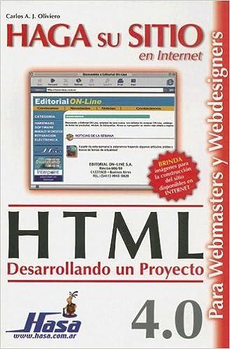Descarga gratuita de libros de computadora en pdf Haga Su Sitio En Internet: Html PDF 9505281862
