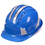 Zhang Li Hard Hats Construction Safety Helmet-ABS Reflective Helmet Construction site Electric Power Construction Project Leadership Helmet Breathable Hard Helmet (Color : Blue)