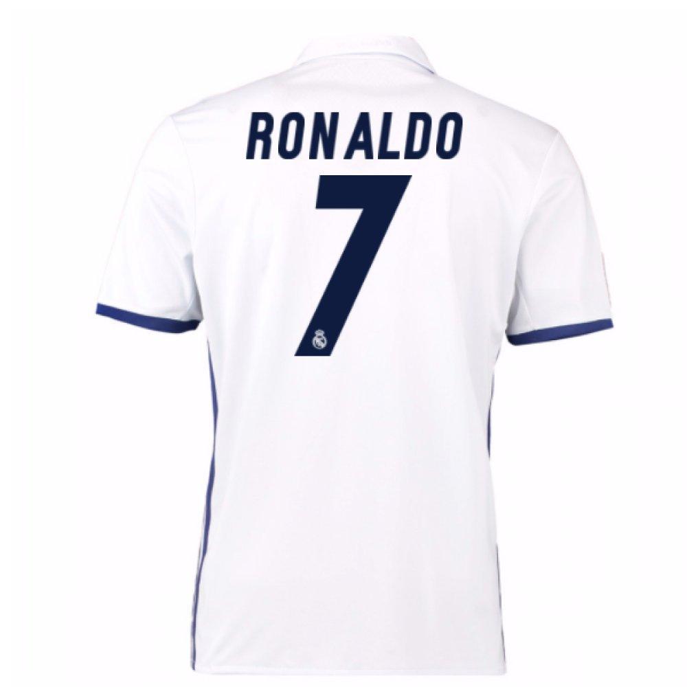 2016 – 17 Real Madrid Home Shirt ( Ronaldo 7 ) B0785R3XM5ホワイト Small 36-38\
