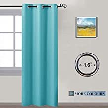 NICETOWN Thermal Insulated Window Treatments - Solid Grommet Blackout Curtains / Drapes for Bedroom (One Panel,42 by 84 Inch,Turquoise)