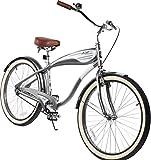 Columbia Superb 5 Star 26-inch Men's Retro Beach Cruiser Bike, Grey