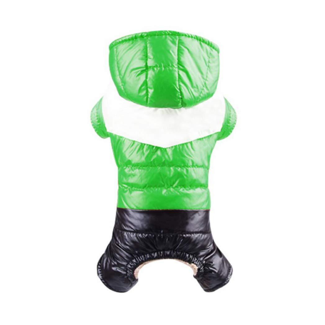 GREEN XL GREEN XL SENERY Winter Pet Dog Clothing,Waterproof Fabric Dog Coat Thickening Dog Down Jacket Costume
