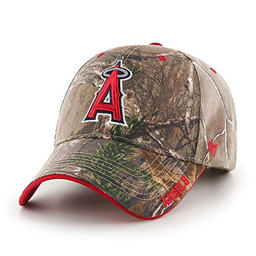47 MLB Los Angeles Angels Frost MVP Adjustable Hat, One Size, Realtree Camouflage