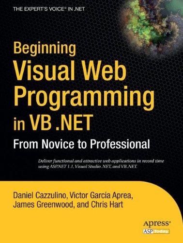 Visual Beginning Web (Beginning Visual Web Programming in VB .NET: From Novice to Professional)