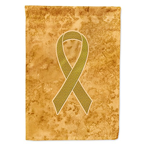 Caroline's Treasures AN1209CHF Gold Ribbon for Childhood Cancers Awareness Flag Canvas, Large, Multicolor