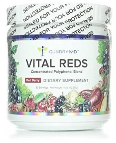 Vital Reds, Gundry MD Concentrated Polyphenol Metabolic Powder Blend 4 Ounce Jar ()