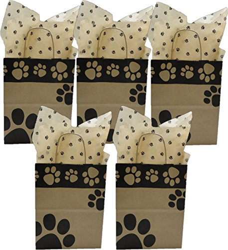 5 Medium Gift Bags Nashville Wraps with Coordinating Tissue