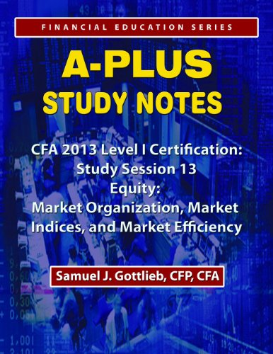 APSN CFA 2013 Level 1 Study Session  Market Organization, Market Indices, and Market Efficiency