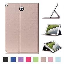Samsung Galaxy Tab A 8.0 T350 Cover,Samsung Tab A8 Case,Samsung Tab A 8 Smart Case,Leather Stand Case Folio Cover Case for Samsung Tab A 8.0 Shell Case -Gold