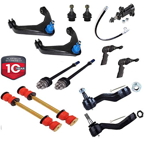 Suspension Dudes 13pc Upper Control Arm for Chevy Hummer Sierra Tie Rod Ball Joint Pitman Idler Arm Sway Bar Links 8-Lug