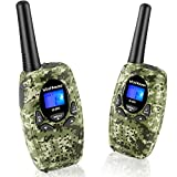 #10: WisHouse Cool Kid Boys Walkie-Talkies Toy for Girls with Straps as Holiday Gifts / Long Range Childrens Two Way Radio Walky Talky Phone Set for Little Kids as Hiking Camping Gear (M880 Camo 2 Pack)