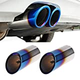 Itlovely 2xStainless Steel Exhaust Muffler Pipe for