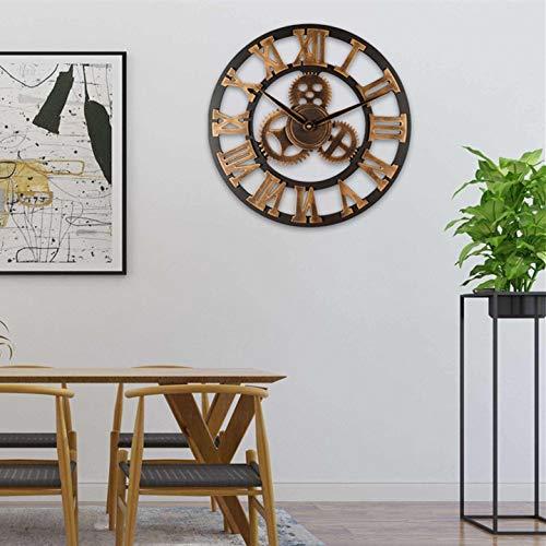 Horloge murale silencieuse 3D avec équipement industriel