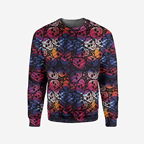 Men's Crewneck Animal Pullover Sweater by iPrint