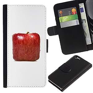 Planetar® Modelo colorido cuero carpeta tirón caso cubierta piel Holster Funda protección Para Apple (4.7 inches!!!) iPhone 6 ( Square Apple )