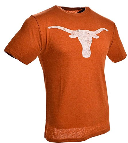 289c apparel Texas Longhorns Mens Distressed Bevo T Shirt (X-Large)