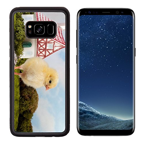 MSD Premium Samsung Galaxy S8 Aluminum Backplate Bumper Snap Case IMAGE ID: 12609446 Beautiful fantasy landscape with miniature fairytale house and little easter duckling