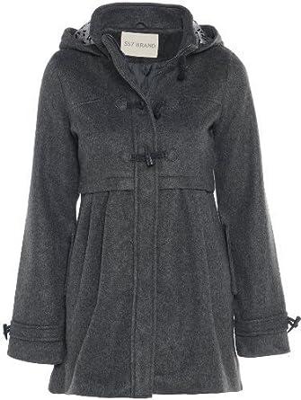 Girls Wool look Charcoal Winter Coat 7-13 years: Amazon.co.uk ...