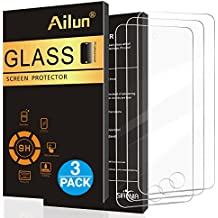 iPod Touch 6 Screen Protector,[3Pack]by Ailun,Curved Edge Tempered Glass for iPod Touch 6G/5G(6th/5th Generation),Anti-Scratch,Case Friendly,Siania Retail Package