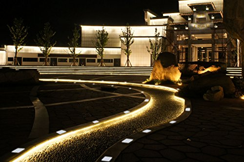 Micandle Water Resistant Square Cool White Solar Led Paver