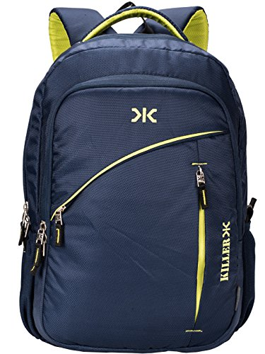 Killer Louis 38L Large Navy Blue Polyester Laptop Backpack with 3...