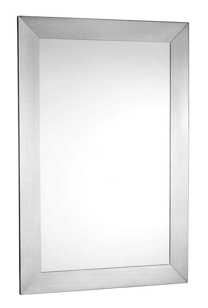 Croydex MM701605 Parkgate Miroir Rectangulaire  avec Encadrement en Acier Inox Brossé 92 cm x 61 cm