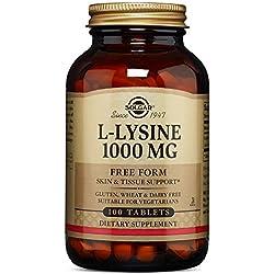 Solgar - L-Lysine 1000 mg Tablets 100 Count